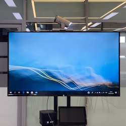 ЖК-панель HP LD5512 UHD 4K 55 Monitor 3840x2160, 16:9, IPS, 350 cd/m2, 1000:1, 8ms, 178°/178°, HDMI, DisplayPort, Energy Star, Epeat, Black&Silver